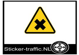 Irriterend of schadelijk waarschuwing sticker