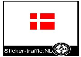 Deense vlag sticker