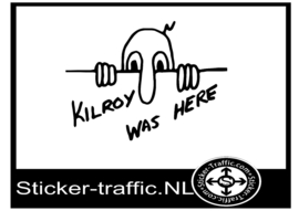 Kilroy was here sticker