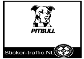 Pitbull design 1 sticker