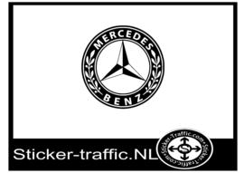 Mercedes logo design 2 sticker