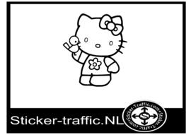 Hello Kitty design 2 sticker
