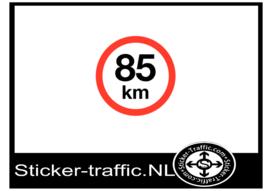85 km sticker