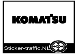 Komatsu sticker