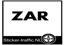 ZAR sticker