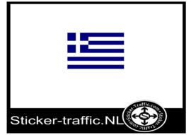 Griekse vlag sticker