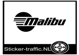 Malibu logo sticker