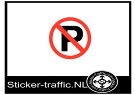 Parkeren verboden sticker