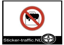 Aktetas verboden sticker
