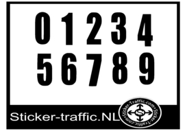 Cross nummers design 1 sticker