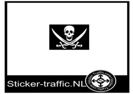 Piraten vlag sticker