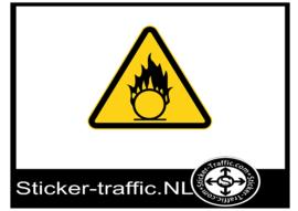 Oxiderend gevaar sticker