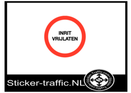 Inrit vrijlaten sticker