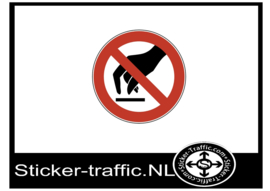 Aanraken sticker