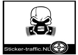 Seat skull sticker