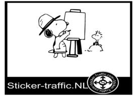 Snoopie design 3 sticker