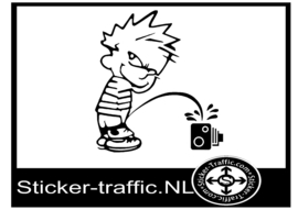 Calvin Flitspaal sticker