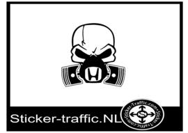 Honda skull sticker