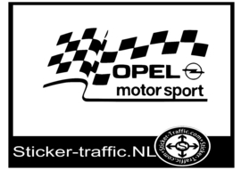 Opel vlag motorsport sticker