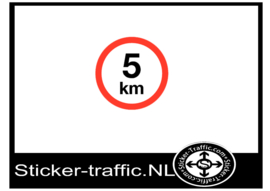5 km sticker