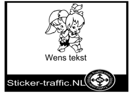 Wens tekst design 12 sticker