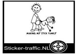 Making my stick family sticker