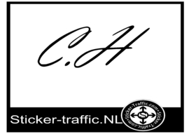 C H sticker
