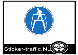 Oversteek sticker