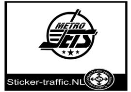 Metro Jets hockey sticker