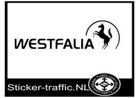 Westfalia paard caravan sticker