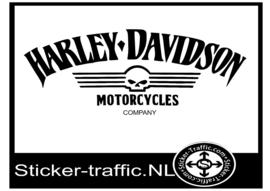 Harley Davidson skull company sticker