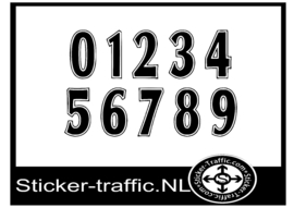 Cross nummers design 2 sticker