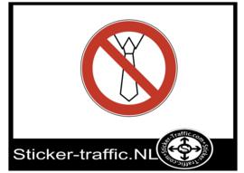 Loshangende kleding verboden sticker