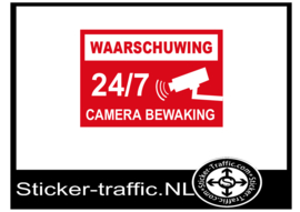 Camera bewaking 24/7 sticker