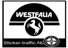 Westfalia met paard caravan sticker
