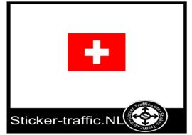 Zwitserland vlag sticker