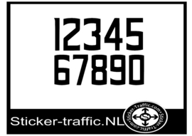 Cross nummers design 4 sticker