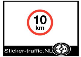 10 km sticker