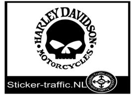 Harley Davidson skull motor sticker