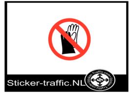 Handschoenen verboden sticker