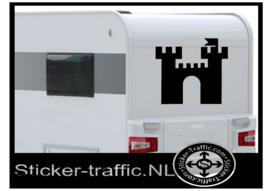Kasteel Chateau logo caravan sticker
