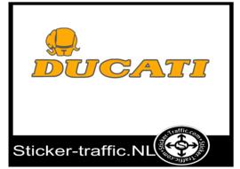 Ducati olifant oranje Fullcolour sticker