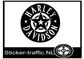Harley Davidson ster sticker