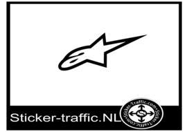 Alpine star sticker
