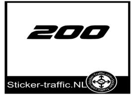 KTM 200 sticker