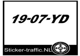 Boot registratie nummer 19-07-YD sticker