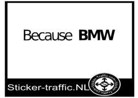 Because Bmw sticker