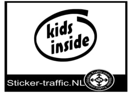 Kids inside design 16 sticker