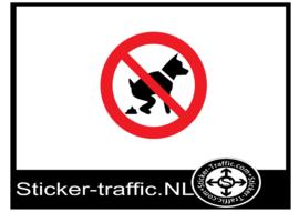 Verboden hond te laten poepen sticker