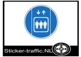 Lift gebruiken sticker
